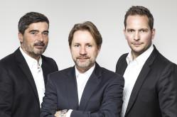 Die Agenturinhaber Detlef Arnold, Reinhard Crasemann und Lasse Matthiesen