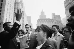 USA. NYC. 1964. Anti-Vietnam War gathering.