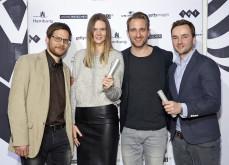 """DWP-Gewinner Kategorie """"Bester Werbefilm"""" Christian Möhler (Jung von Matt), Annika Burchert (Jung von Matt), Jens Pfau (Jung von Matt), Justin Mundhenke (tempomedia) (v.l.n.r.)"""