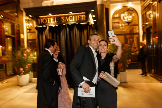 AUSTRIA. Vienna. Sacher Hotel. Going to opera ball. 2016.