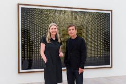 Marion Ackermann und Andreas Gursky ANDREAS GURSKY - NICHT ABSTRAKT am 29.06. 2016 im K20, der Kunstsammlung des Landes NRW in Düsseldorf.