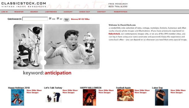 classicstock.com-screenshot