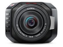 Micro Cinecam von Blackmagic Micro Cinecam mit Lumix Objektiv für 4K Kino und TV-Produktionen.