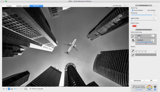 Bildschirmfoto SRDx Photoshop Plug-in Smart Removal of Defects.