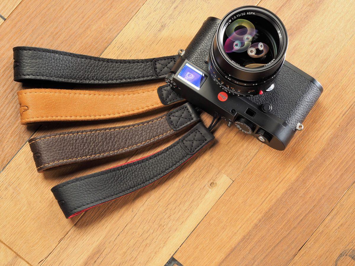 Kameragurte aus Elchleder