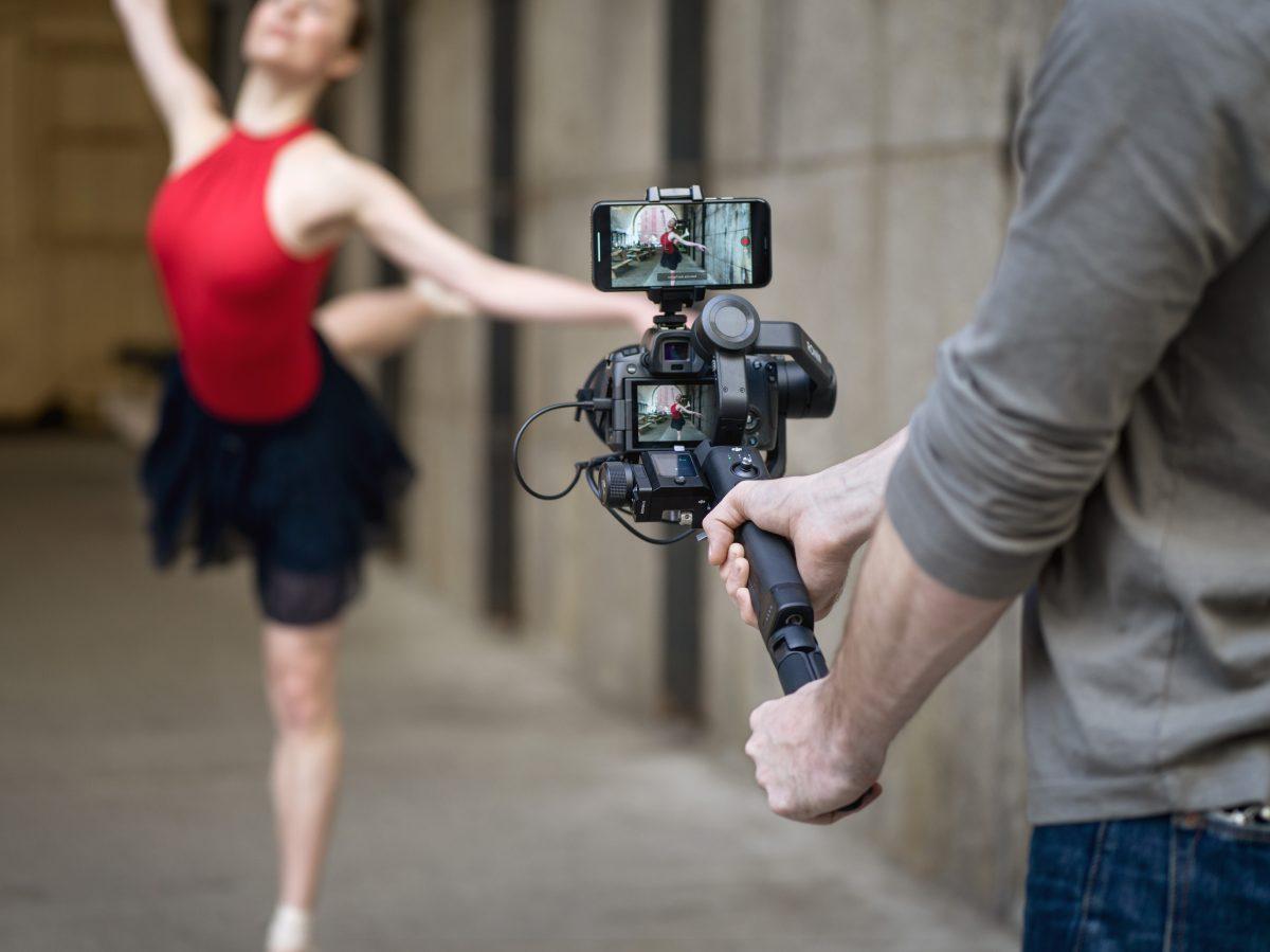 Einhand-Gimbal für spiegellose Kameras