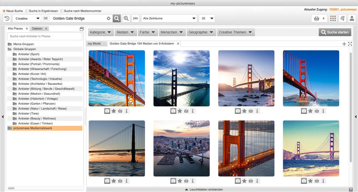 Matrixfilter zur Bildersuche