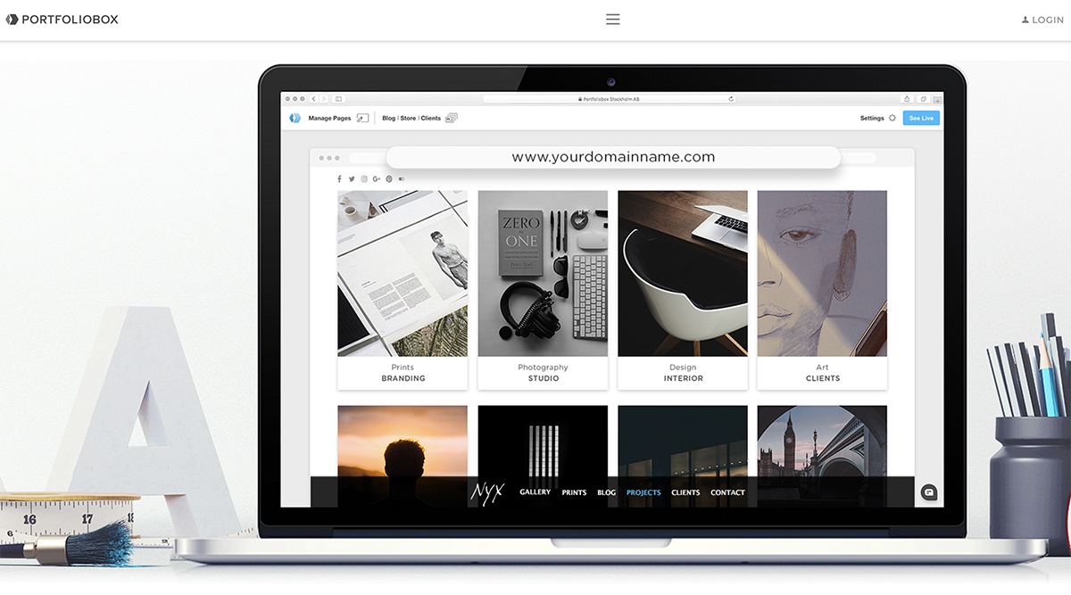 Portfoliogestaltung mit E-Commerce-Funktionen