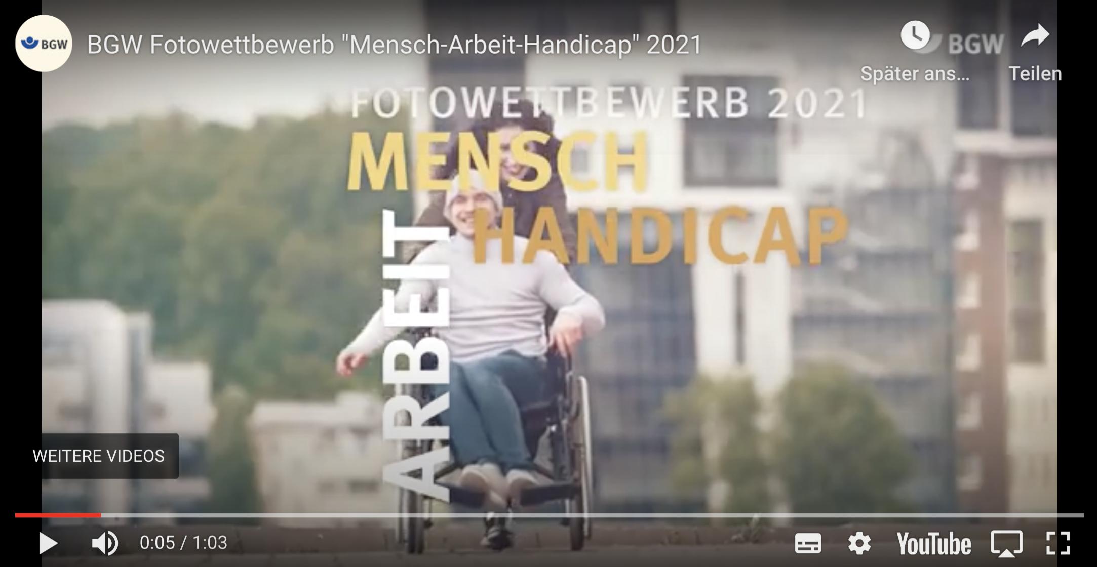 Mensch – Arbeit – Handicap 2021