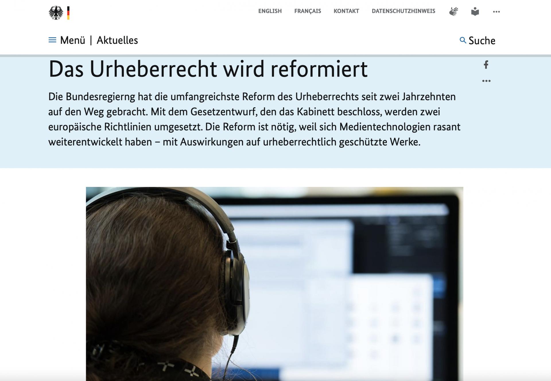 """Neue Regeln fürs """"Hochladen"""""""