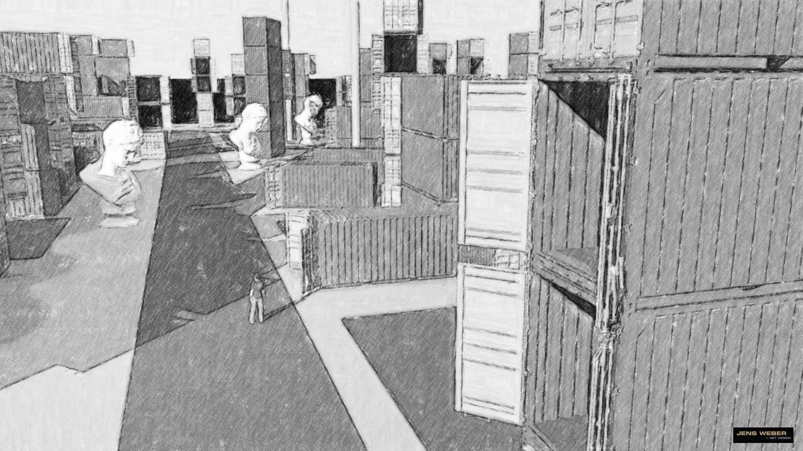 Messe wird Containerstadt