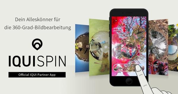 Update der IQUISPIN-App für 360°-Fotos
