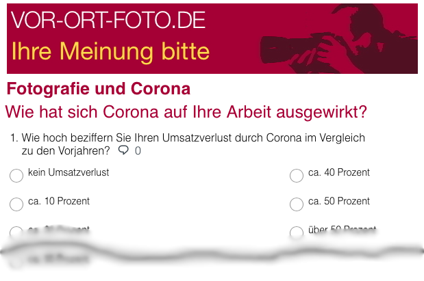 Umfrage – Fotografen & Corona